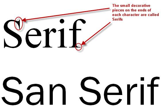 sans serif research lorenashleigh