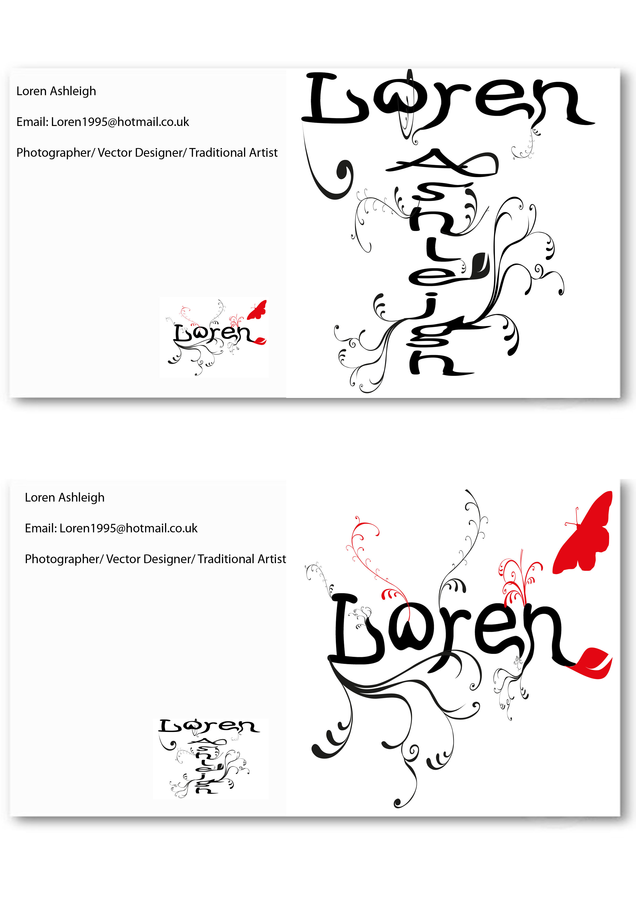 Ideas lorenashleigh page 3 business card back template 1 flashek Images